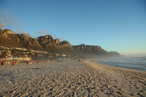 The beach at Camp's Bay, Cape Town.