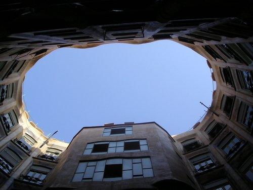 La Pedrera (Casa Mila) Atrium, by Guadi in Barcelona.