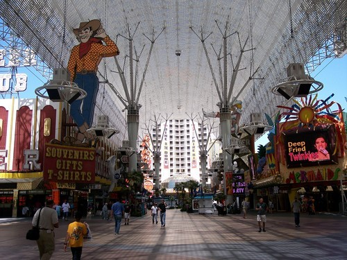 Daytime view of Fremont Street in Las Vegas. Fremont Street Experience