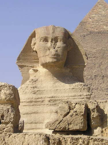 Picture of Giza - Sphinx - The Sphinx at Giza.