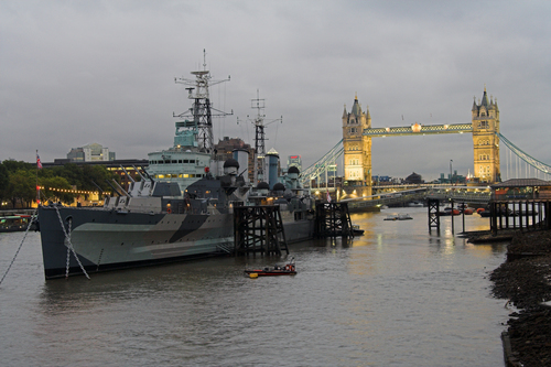 The HMS Belfast in London