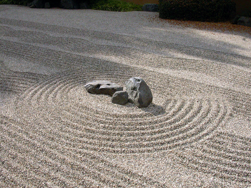 Zen garden at the Huntington Library, San Marino.
