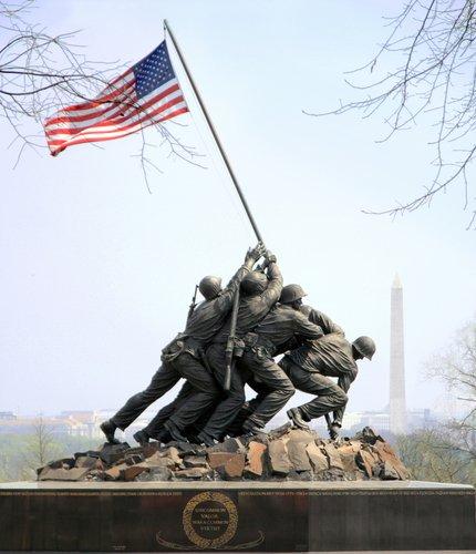 Iwo Jima Memorial in Arlington.