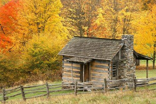 Log Cabin In Grayson Highlands State Park Virginia