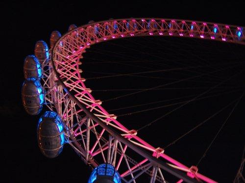 london eye night. London Eye information