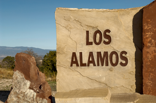 Los Alamos. The sign for Los Alamos