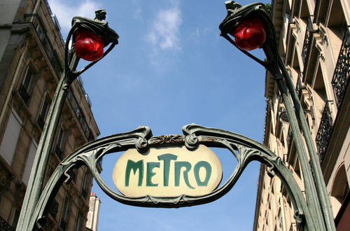 A metro sign in Paris.