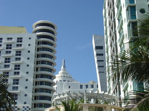 Art deco buildings in Miami Beach.