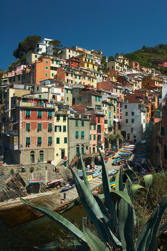 Monterosso al Mare information. Hillside homes in Monterosso.