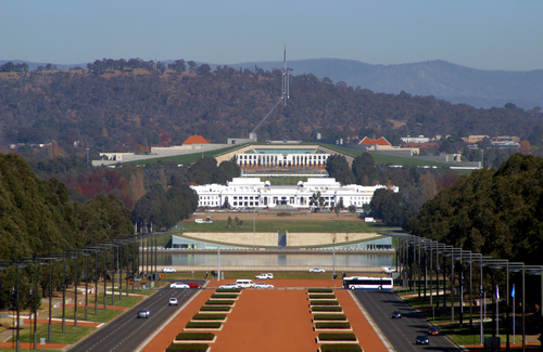 Australian Parliament House in Canberra.