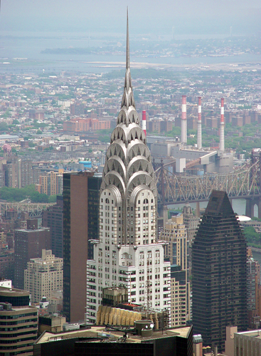 Chrysler Building from afar, New York City.