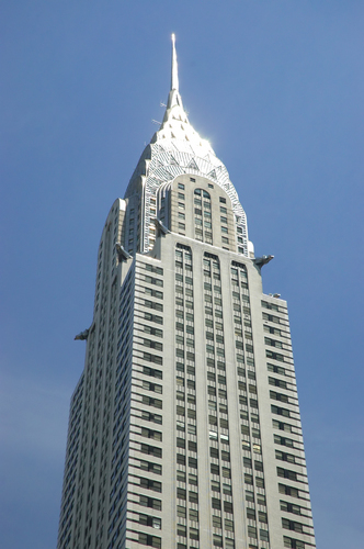 Art Deco Chrysler Building in lower midtown New York City.