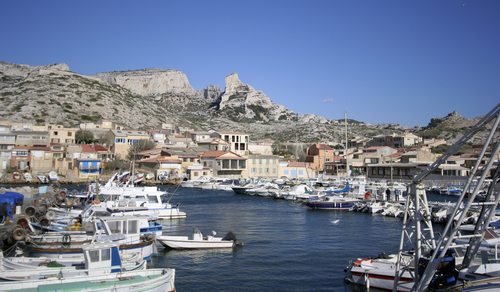 Picture of Old Harbor, Marseilles - The Vieux Port in Marseilles.