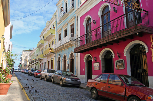 Colorful buildings in Old San Juan.