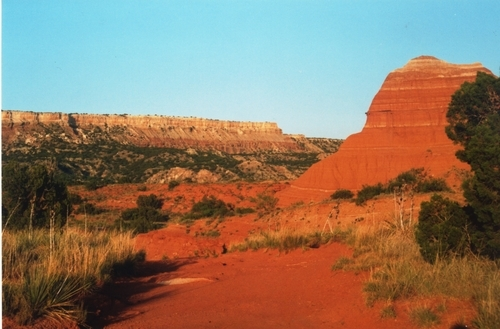 Red dirt in Palo Duro Canyon