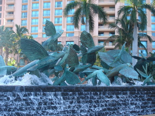 Flying Fish Fountain by Kathy Spalding at Atlantis Resort on Paradise Island