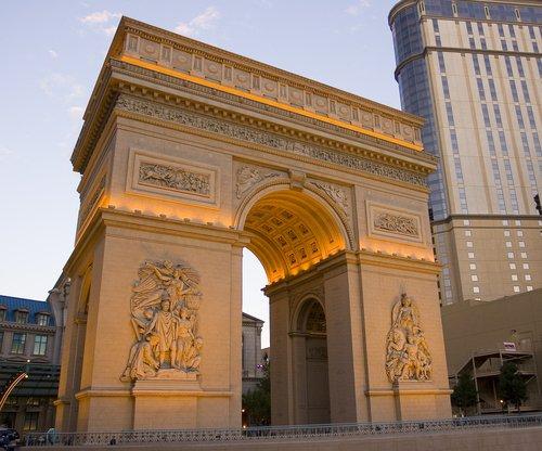 Arc de Triumphe at the Paris Hotel in Las Vegas.