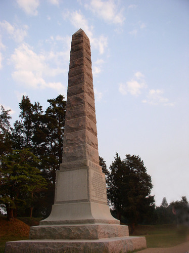 Civil War memorial, Petersburg National Battlefield.