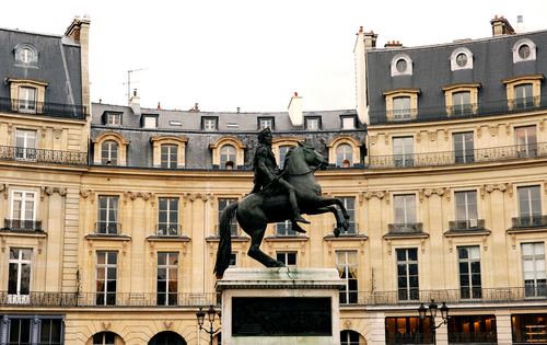 Places In France. Place des Victoires in Paris.