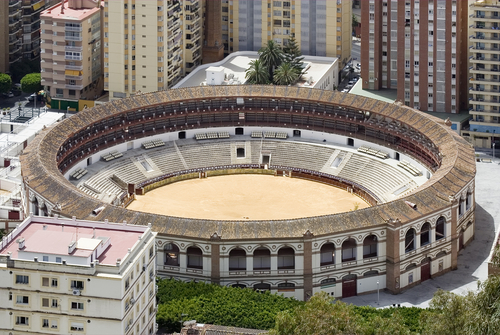 The Plaza de Toros in Malaga.