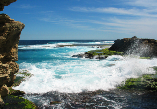 Picture of Rottnest Island - Waves crashing on Rottnest Island.