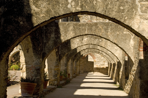 Arches of Mission San José in San Antonio Missions National Historic Park,