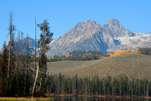 Mount Heyburn in the Sawtooth Mountain Range. Sawtooth National Forest