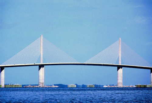 Sunshine skyway bridge in Tampa.