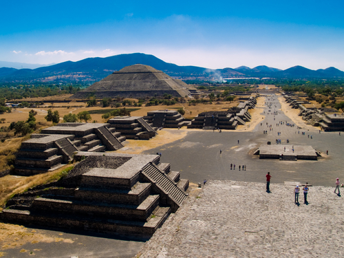 View over the ruins of Teotihuacán.