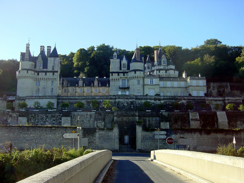 Chateaux Of The Loire. Entrance to Château de