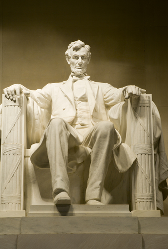 President Abraham Lincoln's statue in his memorial, Washington.