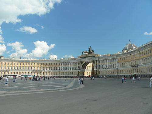 Winter Palace Square in St Petersburg.