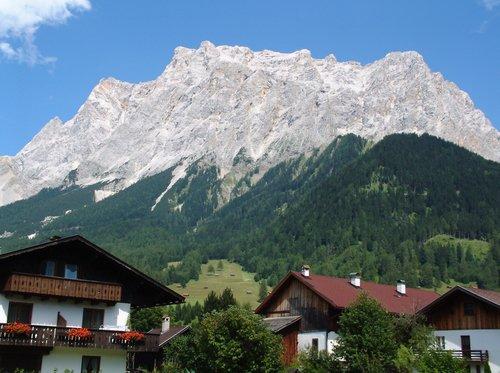 Zugspitze alp from Ehrwald