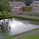 Picture - A pond at the Aberglasney Gardens at Llandeilo.