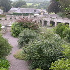 Picture - View over the Aberglasney Gardens in Llandeilo.