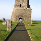 Picture - Walkway to the Aberystwyth Castle.