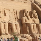 Picture - Abu Simbel which was taken apart and moved to higher ground because of Aswan dam.