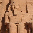 Picture - Close up of Colossi of Ramses II in front of Sun Temple.