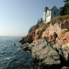 Picture - Lighthouse in Acadia National Park, Bar Harbor.