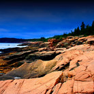 Picture - Smooth rocks on the shores of Acadia National Park.