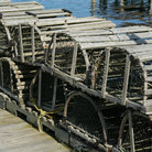 Picture - Lobster traps on the wharf, Acadia National Park, Bernard, Maine.