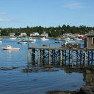 Picture - Wharf and Harbor in Acadia National Park, Bernard, Maine.
