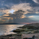 Picture - Acadia National Park as the sun sets.
