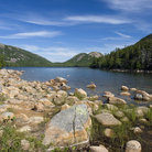 Picture - Scenic Jordan Pond in Acadia National Park, Maine.