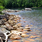 Picture - Shore of Jordan's Pond, Acadia National Park.