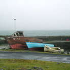 Picture - Boats on shore at Achill Island.