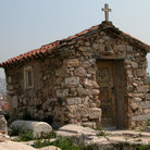 Picture - Stone church near the base of the Acropolis.
