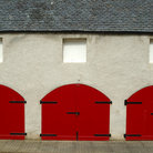 Picture - Red shed doors at Aden House.
