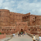 Picture - Entrance into the Agra Fort.
