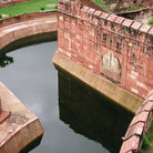 Picture - Moat around Agra Fort.
